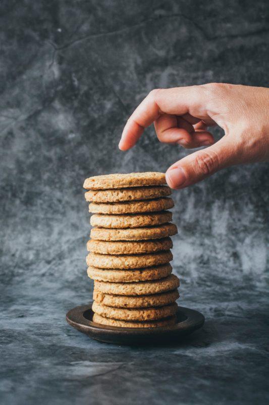 i nostri biscotti biologici senza zucchero da fasoli piante